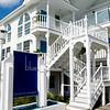 JIM VAIKNORAS/Staff photo Blue, The Inn on The Beach entrance on Fordham Way on Plum Island.
