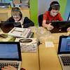 BRYAN EATON/Staff Photo. Jack Batten, left, and Colin Raffery, both 9, on NEF laptops at the Bresnahan School.
