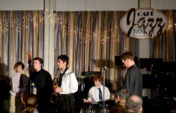 JIM VAIKNORAS/Staff photo The Jazz Cafe at Pentucket High School.