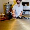 JIM VAIKNORAS/Staff photo Eddie Gaudet rehearses at Zach Field Drum Studio.