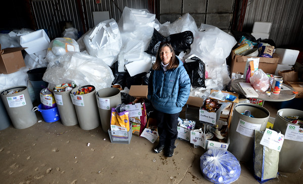 Christin Walth  at the Newburyport  Recycling Center