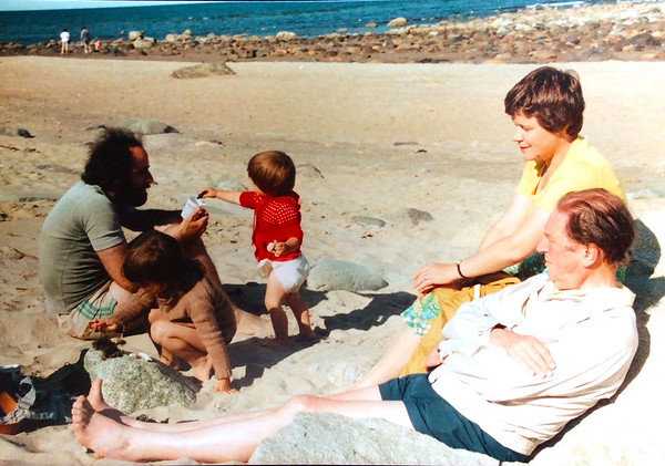 Gordon Welshman with his family in Newburyport.