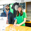 JIM VAIKNORAS/Staff photo Josh Wedge and employee Staci Desboverie at the Riverwalk Brewery in Newburyport new brewery unvailing.