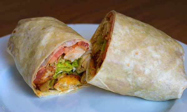 JIM VAIKNORA/Staff photo Southwestern Chicken<br /> Grilled Cajun spiced chicken strips with lettuce, tomato and sour cream at Port City Sandwich Shop in Newburyport. $7.95