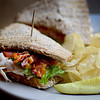 JIM VAIKNORAS/Staff photo Turkey BLT at the Atomic Cafe, turkey, on muti-grain, avacado,lettice, tomato and bacon. $8.00