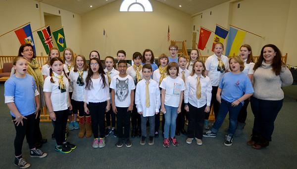 JIM VAIKNORAS/Staff photo The Greater Newburyport Children's Choir at the Hope Church in Newburyport.