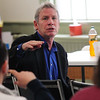 JIM VAIKNORAS/STaff photo Actor Steve Blackwood leads a workshop at the Old South Church in Newburyport.