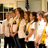 JIM VAIKNORAS/Staff photo Members of  The Greater Newburyport Children's Choir Perform at the State of the City Address at the Senior Center in Newburyport.