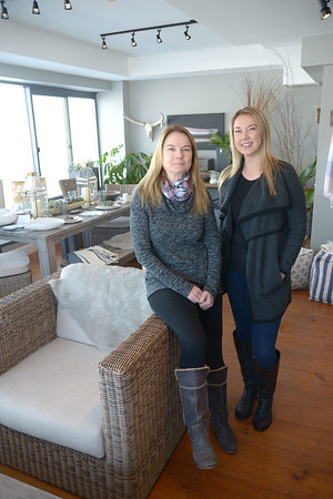 JIM VAIKNORAS/Staff photo Owners of Sage Design in Newburyport.