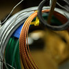 JIM VAIKNORAS/Staff photo Assorted wire in Ryan Kelley's workshop in Byfield.