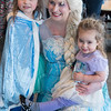 JIM VAIKNORAS/Staff photo Posing with Elsa Olivia, 4, and Arianna, 2, Hurley of Melrose at the Frozen Brunch and Skate  Party at Seaglass in Salisbury.