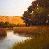 "BRYAN EATON/Staff photo. ""Moment of Reflection"" is a scene of the Newbury marsh from Hanover Street."