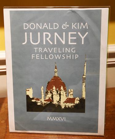 BRYAN EATON/Staff photo. Literature of the Donald and Kim Jurney Traveling Fellowship.