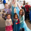 JIM VAIKNORAS/Staff photo Posing with Elsa are Gracie Miller, 6, Natalie McPhillips, 2, Lucy, 2, and Emily, 4, Langlois at the Frozen Brunch and Skate  Party at Seaglass in Salisbury.