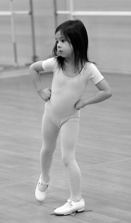 JIM VAIKNORAS/Staff photo Nicolina Trefalt-Liu practices her shuffle step.