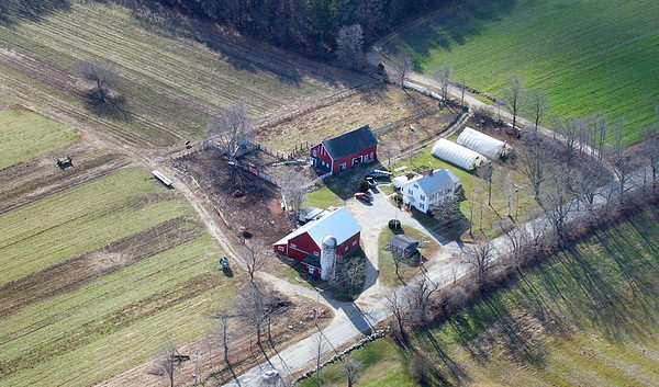BRYAN EATON/Staff photo. An aerial view of some of the Bartlett's Farm acreage.