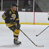 JIM VAIKNORAS/Staff photo Bruin's alumni Andy Brickley at the Newburyport Youth Hockey's game against the Boston Bruin's Alumni team Saturday at the Graf Rink in Newburyport.