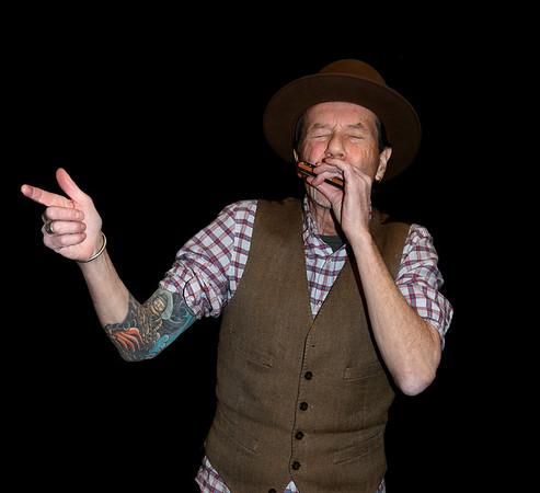 JIM VAIKNORAS/Staff photo Blues harmonica player Justin Quinn.