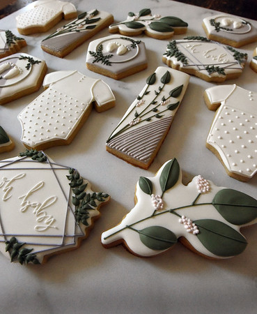 BRYAN EATON/Staff Photo. Cookies to celebrate a new baby in the house.