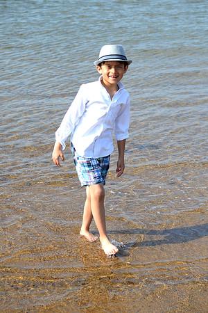 Ethan Hosein wearing Ralph Lauren Linen button down and Gap madras plaid<br /> shorts