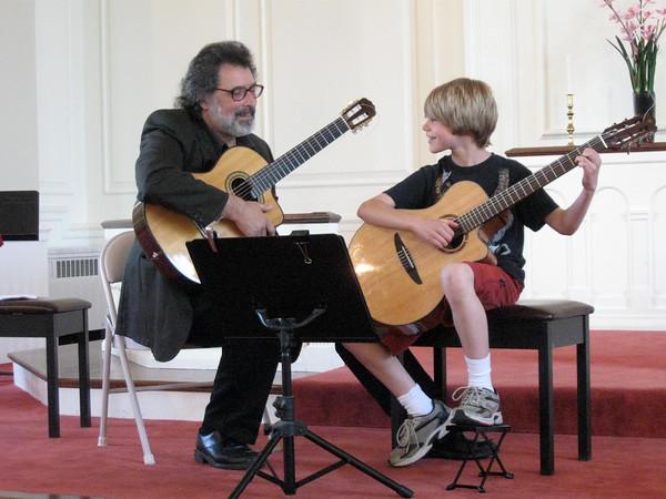 Quentin with guitarist John Travano