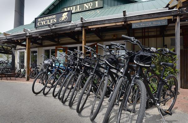 BRYAN EATON/Staff Photo. Riverside Cycles at Newburyport's Tannery Marketplace.