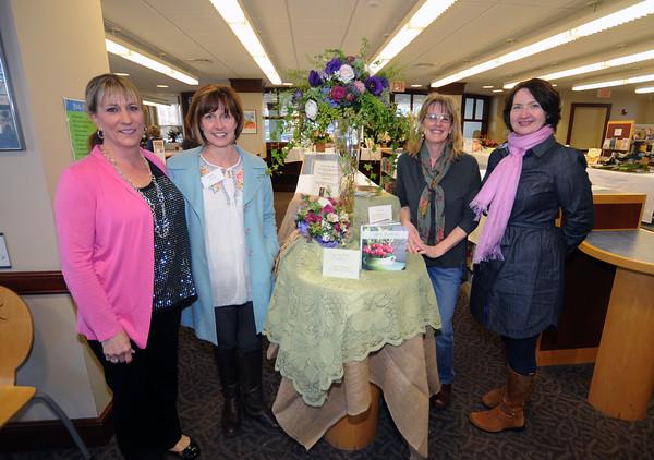 JIM VAIKNORAS/Staff photo <br /> Kristin Dixon, Ingrid Cyros, Jan Lorrey and Martha Leen at Books in Bloom