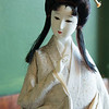JIM VAIKNORAS/Staff photo A Japanese doll on display at Hanna Japan in Newburyport.