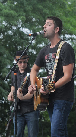 Newburyport: AJ Edwards performs at the 12th annual Riverfront Festival in Market Landing Park in Newburyport Saturday. Edwards was the first of 5 bands to play at the daylong event put on by 92.5 The River. Jim Vaiknoras/staff photo ORG XMIT: msffmb77