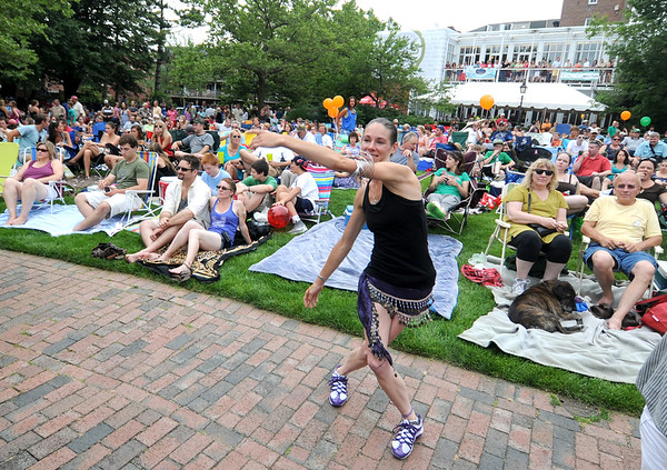Newburyport: Liz Bouchard of Maine, dances to the music of The Brew at the 11th annual Riverfront Festival at Market Landing Park in Newburyport Saturday. 2012 Jim Vaiknoras/staff photo ORG XMIT: m6uuy077