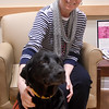 JIM VAIKNORAS/Staff photo Kathy Porter and Lucy at the  the Anna Jaques Cancer Center at the Anna Jaques Hospital.