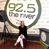 JIM VAIKNORAS/Staff 92.5 The River morning DJ Dana Marshall in the River Music Hall at the station in Haverhill.