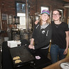 JIM VAIKNORAS/Staff photo Samantha Gafford and Amy Coutureu of JAJU Polish Pierogi's at Silvaticus in Amesbury.