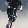 JIM VAIKNORAS/Staff photo Emerson Leahy, 11, of Newbury, flies off a jump on his razor scooter at Newburyport Skate Park.