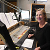 JIM VAIKNORAS/Staff 92.5 The River morning DJ Dana Marshall on the air at the station in Haverhill.