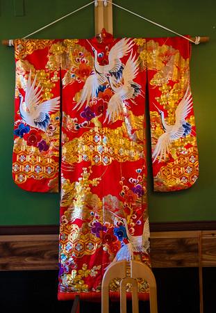 JIM VAAIKNORAS/Staff photo A kimono on display at Hanna Japan.