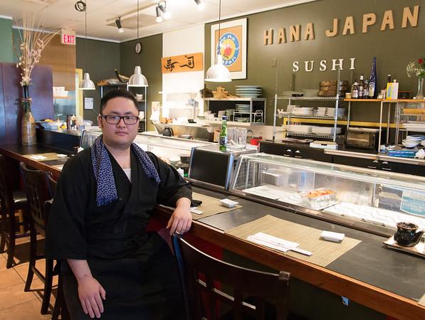 JIM VAIKNORAS/Staff photo Kosuke Takahashi owner of Hanna Japan in Newburyport.
