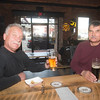 JIM VAIKNORAS/Staff photo Richard belanger and Goerge Pardi enjoy a beer with their JAJU pierogis at Silvaticus.