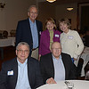 JIM VAIKNORAS/Staff photo John Green Dr William Freeman, Back row:Dick and Jane Coder and Terri Whitney  at the Newburyport Literary Festival Dinner with the Authors