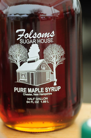 JIM VAIKNORAS/staff photo Half Gallon of maple syrup $34.95 from Folsom Sugar House, folsomsugarhouse.com at the Newburyport Farmers market