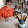 BRYAN EATON/Staff Photo. Sandra Turner in her Plum Island studio.