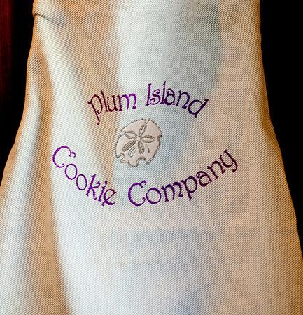 JIM VAIKNORAS/Staff photo  Plum Island Cookie Company logo on an apron