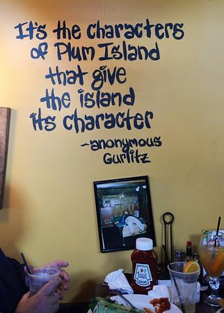 BRYAN EATON/Staff Photo. The Beachcoma has all kinds of Plum Island references and memorabilia throughout the establishment.