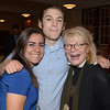 JIM VAIKNORAS/Staff photo Viv Szabo, 18 , her brother Sam 24 and Vicky Hendrickson at the Newburyport Literary Festival Dinner with the Authors