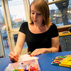 JIM VAIKNORAS/Staff photo Sara Smith at adult coloring at the Newburyport Library.