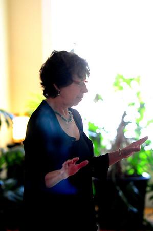 JIM VAIKNORAS/Staff photo Rose Russo at the Newburyport Yoga Center