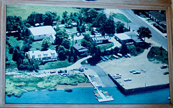 Old photo of Fernalds along the Parker River