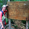 Sheryl  Lambert at Mt Greylock in Ma on the Appalachian Trail