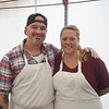 JIM VAIKNORAS/Staff photo Beau Sturm and Suzi Maitland of Paddle Inn in Newburyport  at the Newburyport at the annual Grog Chili feastival at the Tannery.
