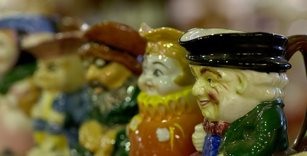 JIM VAIKNORAS/staff photo Assorted decorative creamers ranging in price from $12-35 at Oldies.